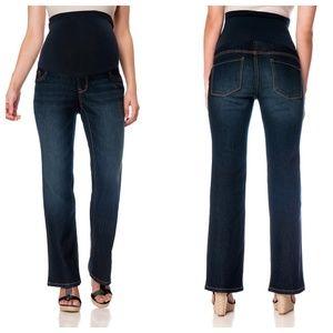 Indigo Blue Petite Bootcut Maternity Jeans 30 NWT
